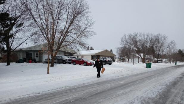 The Staples Police Department initiated a home search on Jan. 19, under Staples Police Chief Melissa Birkholtz. (Staples World photo by Dawn Timbs)