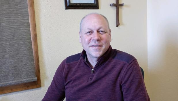 Scott Jorgenson has been the pastor at Thomastown Covenant Church in rural Staples since October of 2020. He and his wife, Lisa, are originally from the Rochester area. (Staples World photo by Dawn Timbs)