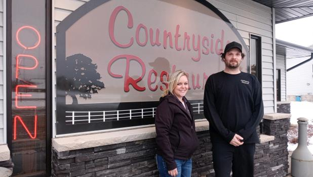 Lexi Clark (left) and Kelly Craig are the new owners at Countryside Restaurant in Motley, a role they assumed in November of 2020. (Staples World photo by Dawn Timbs)