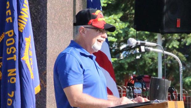Andy Schmidt, Staples gave the Memorial Day address on May 30. Schmidt a U.S. Navy Corpsman, served as a medic attached to the marines in Okinawa and was a field medic at Camp Pendelton, California. After his military career, Schmidt spent 30 years as a state trooper.