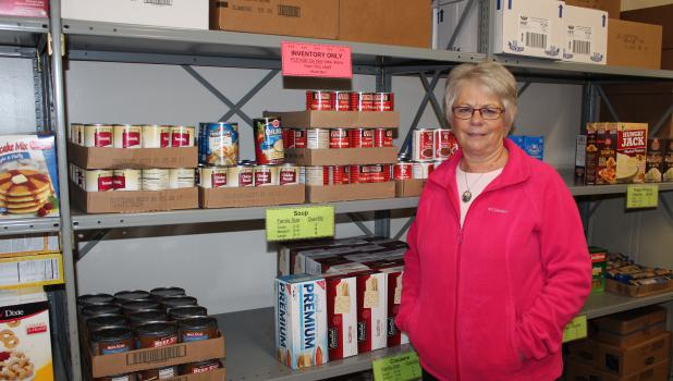 Sherry Miller Frisk of rural Motley is the new director at the Motley Area Food Shelf. She is taking over this position from Sharon Stone, who will continue to handle the food shelf's finances.