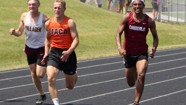 Emmet Anderson won the 3,200 meter run and was second in the 1,600 meter run, while Remington Converse was second in the 100 meter dash at the Section 6A Track and Field meet at Fergus Falls June 10. They will both compete at the Minnesota State Track and Field Meet June 17-18 at St. Michael-Albertville.  The 3,200 race was held early because of heat warnings on June 10. Anderson took off fast and nobody else in the field stayed with him after the first 100 meters. He cruised to a win in 9:44. In the 1,600,