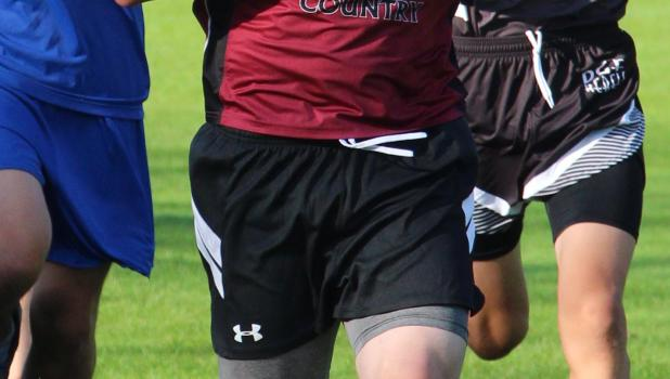 Ben Bartczak passes runners during the race.