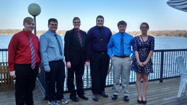 Knowledge Bowl participants, from left, are Chris Hart, Jeffrey Allen, Andrew Bates, Jace Hoemberg, Zach Strickland and Alexandra Davis. (Submitted photo)