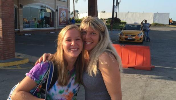 Samantha Svendsen, left, was able to spend a few days with her mom, Amy, while her ship was docked in Panama last December. It was the only time she was able to see her mom during her journey.