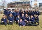 A number of Staples-Motley FFA Chapter members attended the Minnesota State FFA Convention this past April in the Twin Cities. Pictured above, back row from left: Mikayla Williams, Shane Guggenberger, Matthew Iquinto, Garrett Carlson. Middle: Rachel Paskewitz, Amy Michel, Haileigh Mollner, Lizzie Boyer, Abbie DiGiovanni, Rylie Rau, Kai Gelly, Hailey Owen, Lizzy Noble. Front: Natasha Lynman, Danielle Carpenter, Drew Berg, Gabe Misner, Scout Strickland, Olivia Leslie, Blayne Dumpprope, Josiah Paskewitz. (Subm
