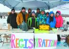 Central Minnesota CEO students hosted an ice fishing jamboree at Dower Lake in Staples Feb. 25. Pictured above at the registration table are, from left, Logan Taggart, Zach Strickland, Dominic Nistler, Sarah Moen, Jacob Krueger, Rachel Paskewitz, Hayley Maloney, Molly Lindgren, Katie Benson. (Staples World photos by Dawn Timbs)