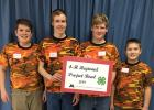 Members of the Becker Busy Bees 4-H Club recently took first place at the 4-H Regional Wildlife Bowl in Foley. They will go on to compete at the state competition April 6, in Sauk Rapids. Pictured, from left, are Colton Converse, Sam Sauber, Bill Sauber and Dustin Converse. (Submitted photo)