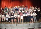 The 57 Staples Motley High School seniors who received scholarships at the May 4 Dollars For Scholars pose for a photo following the event. The local Dollars For Scholars chapter awarded $88,875 to the students.