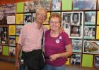 """Clarence and Mary Horsager of Verndale enjoyed spending time at The History & Heritage Center at the Minnesota State Fair Sept. 2. A number of exhibits were on display, showcasing the variety of events which have taken place at the fair for over a century and a half. The Horsagers said the fair has been an important part of their family. """"Our kids were always in 4-H, so they would often be here for that; and I have been a judge for different events,"""" Mary said. """"We have many great state fair memories."""" (Sta"""