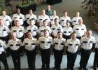 CLC Law Enforcement Skills program graduates, above; front, from left, Jason Sanderson, Mike Astle, Bren Fletcher, Jacob Revering, Carlos Hernandez, Dillion Houde, Justin Dziedzic, Travis Hanson; middle, Blake Petrich, Taylor Hershey, Caden Brose, Spencer Stack, Aaron Larson, Taylor Ebner, Zacharie Fritz; back, Scott Williams, Artise Torrence, Jacob Faschnig, Alex Ruikka, Tyler Lenz, Dustin Hines, Conner Collette; Dave Davis, CLC Law Enforcement Skills Coordinator, in bavk. (Submitted photo)