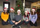 Five foreign exchange students at Staples-Motley High School shared their thoughts on Christmas with the Staples World recently. Pictured at the high school library, from left, are Anna Stejskalova, Czech Republic; Camille Florent, Belgian; Jens Klemm, Germany; Jiye Lee, South Korea; Leony Broschek, Germany. (Staples World photo by Dawn Timbs)