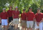 Staples-Motley boys golfers at the section meet, from left, Beck Erholtz, Jack Benson, Tyler Helling, Jack Adamietz, Alex Giza and Finn Erholtz. (Submitted photo)