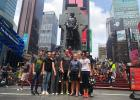 While attending Culture Camp in New York City recently, a group from Staples Alliance Church had the opportunity to do some sight-seeing along the way. They are pictured by the commemorative statue of Father Duffy (standing in front of a Celtic cross) at Duffy Square in Manhattan, located in the northern triangle of Times Square. Front row, from left: Ashley Robben, Aften Robinson, Mara Harrington (a student from Ohio who joined the Staples group for the week), Nick Schultz, Leah Bestland, Staci Schultz. Ba