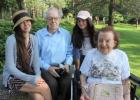 Don Edwards and Rose Han, center, are pictured in the rose garden in St. Cloud with Rose's sister, Megan Han, left, and Don's sister, Rose Grossman. This trip is one of the many memories the family has with Don because he was able to get blood transfusions. (Submitted photo)