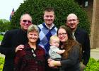 Steve and Toni Sveom with their son Daniel, daughter Naomi, son-in-law, Nick and grandson, Phillip. After 24 years in Staples, Steve and Toni will be moving after Steve's Nov. 20 retirement party at Faith Lutheran Church. (Submitted photo)